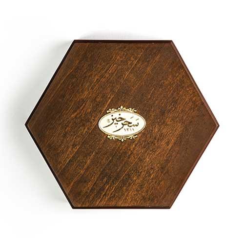 زعفران ۱۰۰ گرم خاتم جعبه چوبی